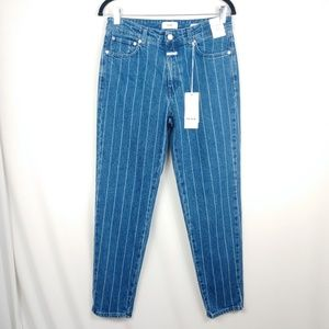 Closed Day High Rise Striped Girlfriend Jeans NWT
